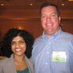 Bea Brahmbhatt of Shaw Industries (Left) and Sean Ragiel of CarpetCcyle