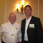 Paul Ashman of ERCS (left) and Ron Simonetti of Modular Carpet Recycling