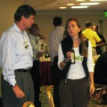 Ron Serga & Ellen Raynor networking during a break