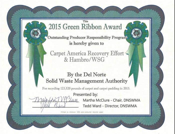 EPR award certificate