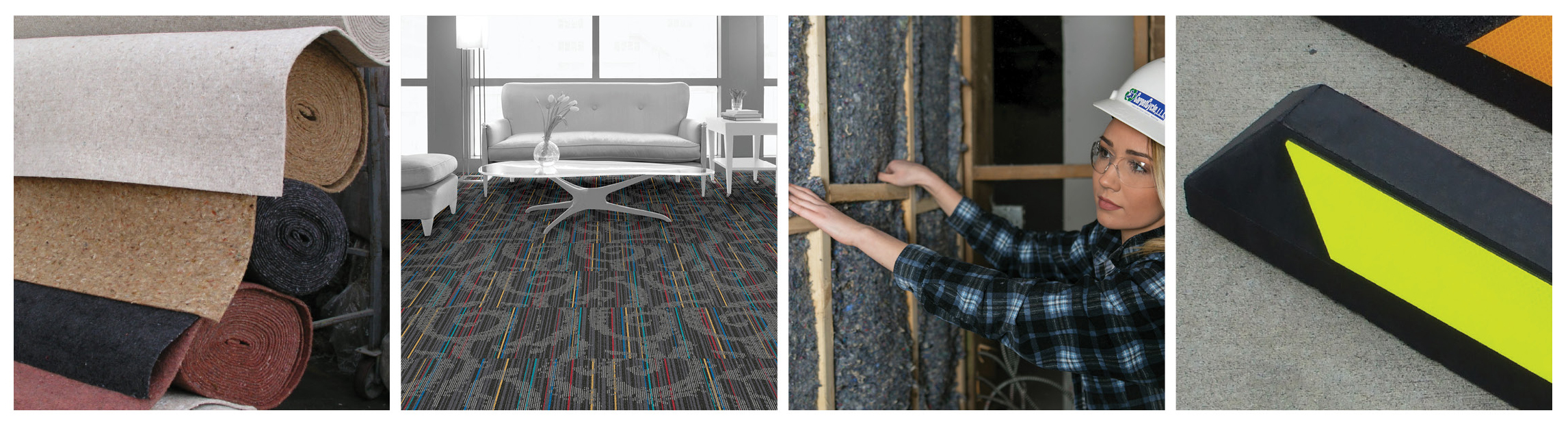 Post Consumer Carpet Can Be Recycled And Made Into A Variety Of Products Including More Pictured Are From Reliance Interface