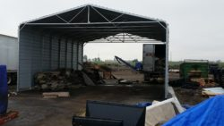 weather cover at drop off site