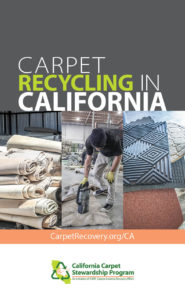 carpet recycling in California brochure cover