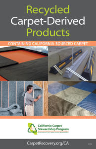 cover of recycled carpet products catalog