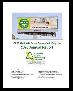 Cover of California Carpet Stewardship Program 2020 Annual Report