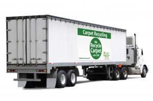 53 foot truck for recycling carpet with CARE logo